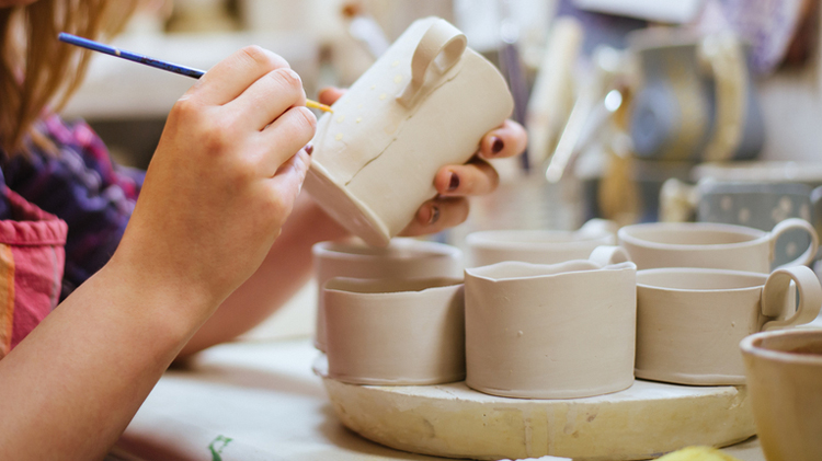 Camp Casey Arts & Crafts Ceramic Class